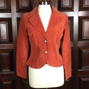 Jackets & Blazers - Live a Little Brand Coral Suede Leather Jacket